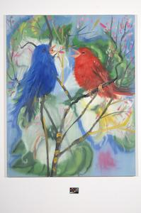 Ann Craven, 01_Portrait of 2 Birds (After Picabia) Brussels, 2006, 60 x 48 in_JPEG