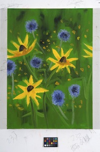 Ann Craven, 05_Brown Eyed Susan (8-24-11), 2011, 24 x 20 in_JPEG