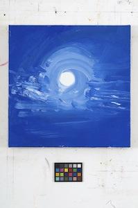 Ann Craven, 133_Moon (Cushing, 8-31-12, 12AM), 2012, 14 x 14 in_JPEG