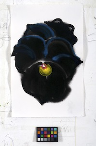 Ann Craven, 02_Pansy (Guilford, Black Moon Pansy, 2-10-13 #2), 2013, 17 x 11 in_JPEG