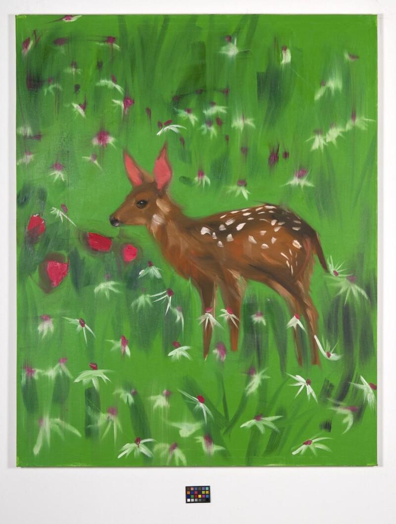 Ann Craven, 06_Deer in Emerald Field #5, 2007, 60 x 48 in_JPEG