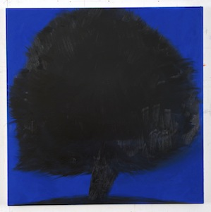 Ann Craven, 10_Tree (8-29-12, after Purple Beech, Cushing, 8-12-12, 9PM), 2012, 48 x 48 in_JPEG