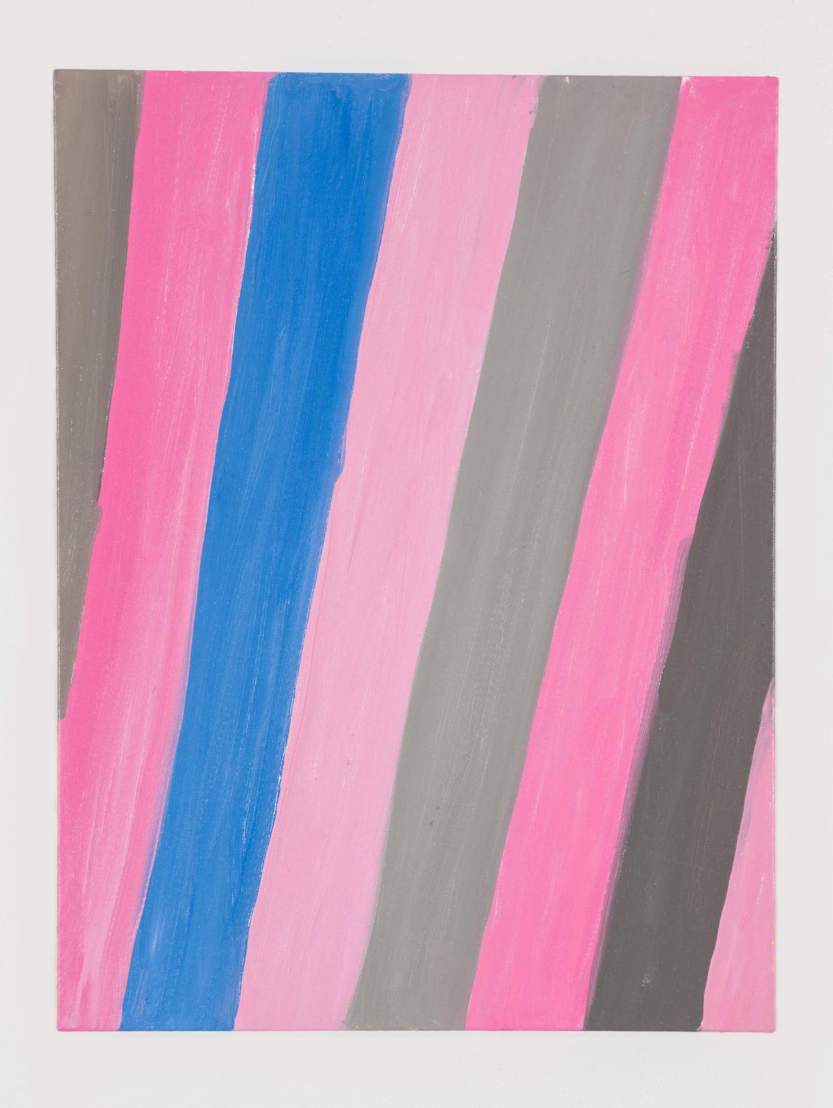 02-Stripe (Purple Finch, Eastern Blue Bird, on Pink Snow), 2017-1