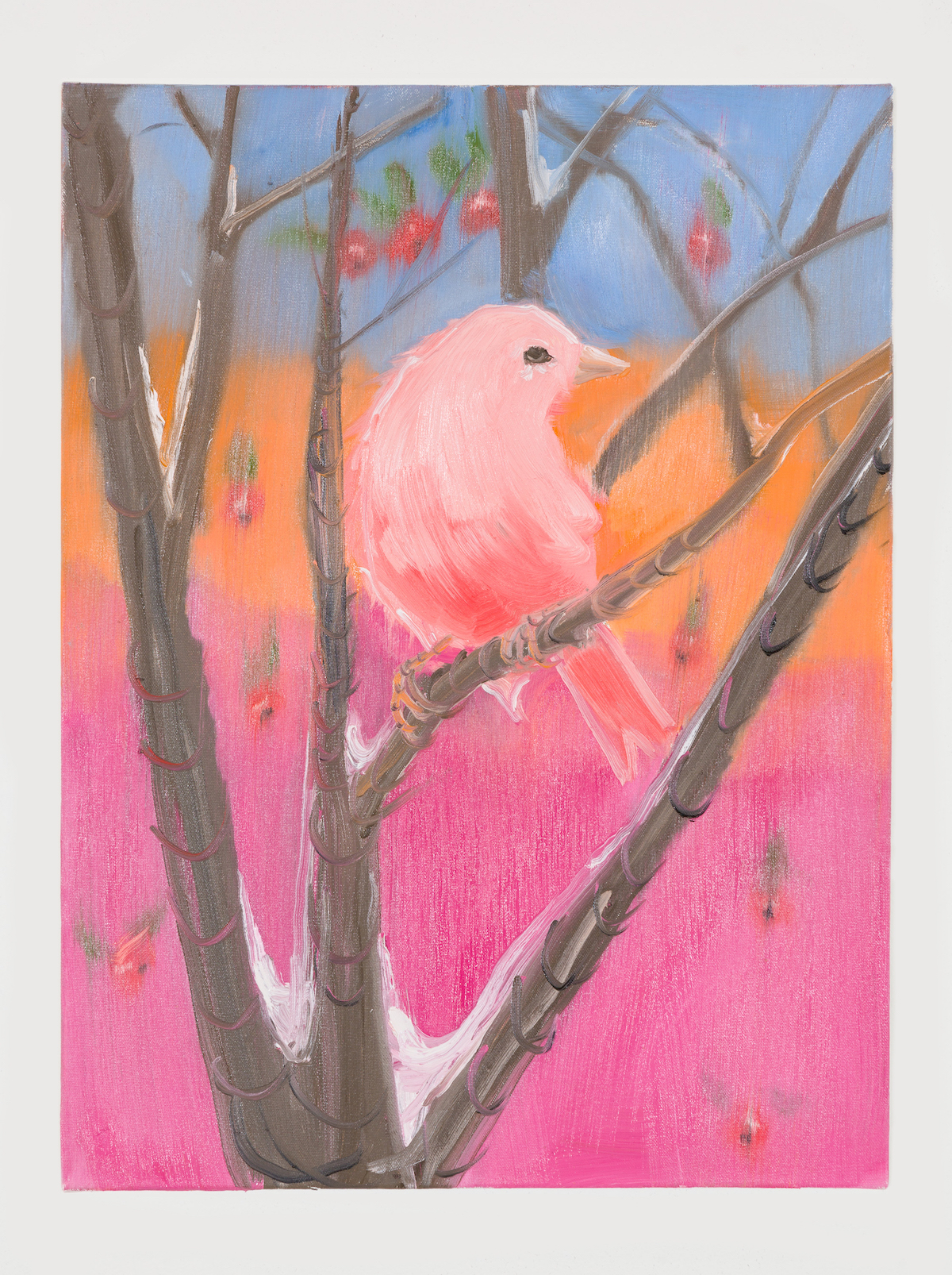 06-Pink Canary (Stepping Out in Snow at Sunset), 2018-1