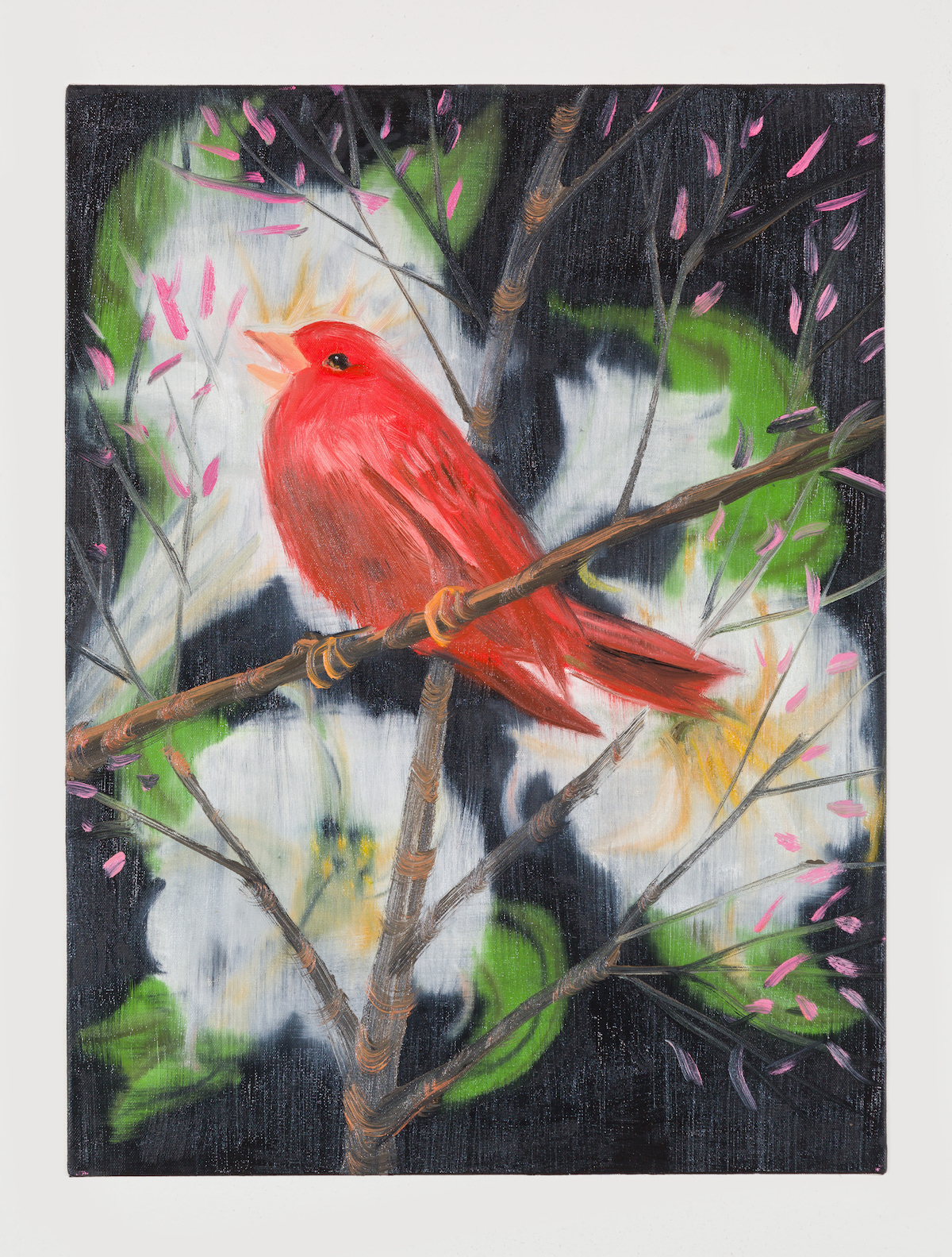 07-Portrait of a Red Bird (Picabia Bird on Black), 2018-1