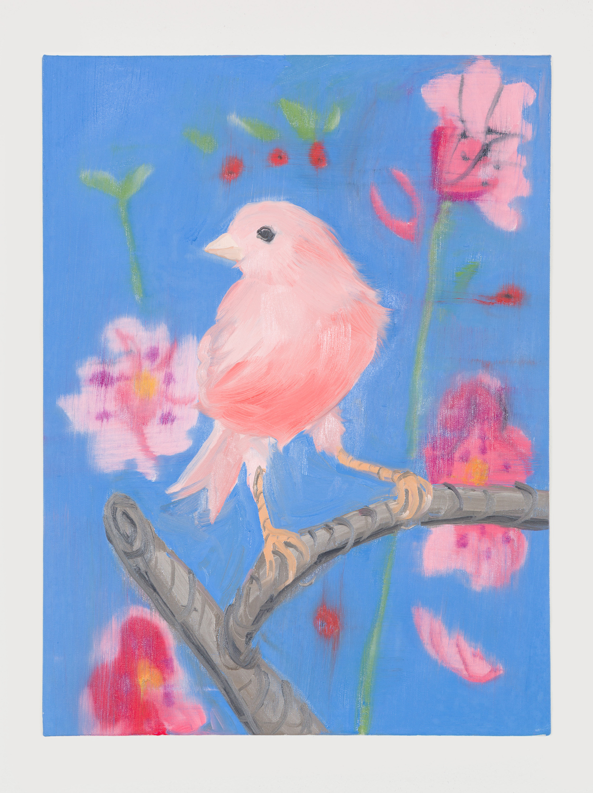 10-Pink Canary (Stepping Out on Blue), 2017-1
