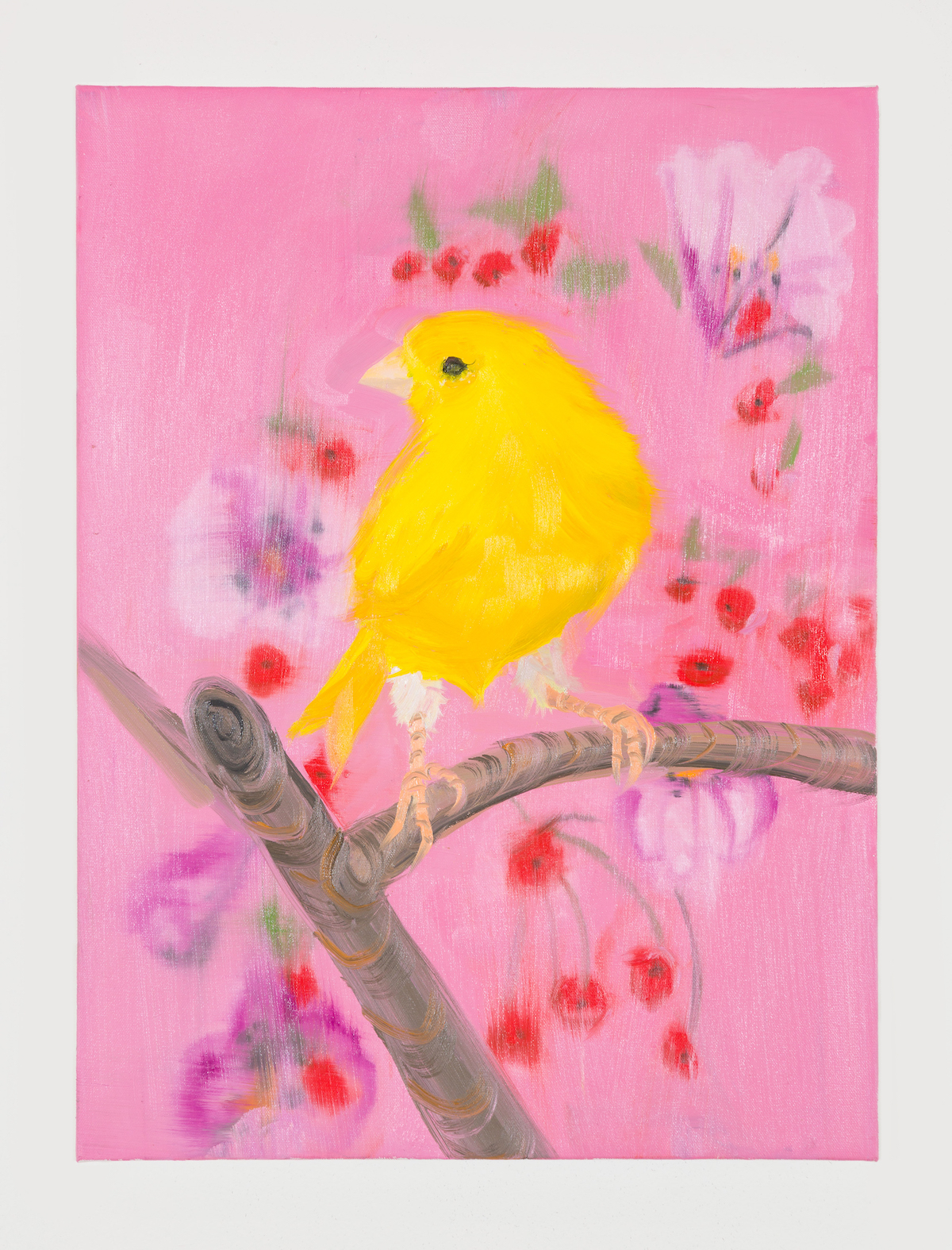 12-Yellow Canary (Stepping Out on Pink), 2018-1