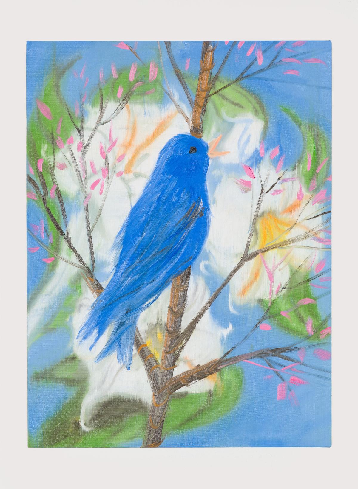 13-Portrait of a Blue Bird (Picabia Bird), 2018-1