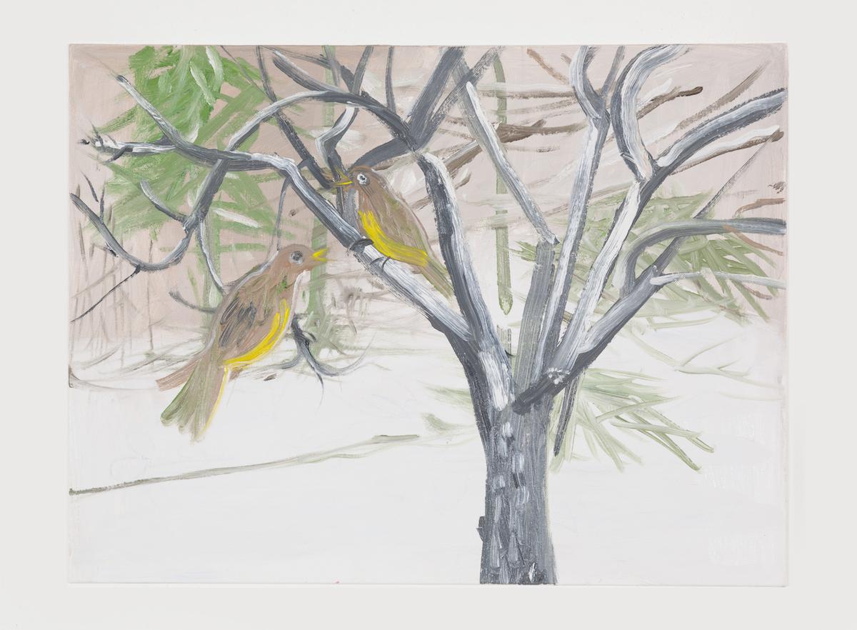 15-Snow Birds (Yellow Connecticut Warbler), 2017-1