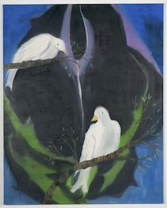 Ann Craven, 14_I Promise (Two Birds for Johnny Cash), 2009, 64 x 51 in_JPEG