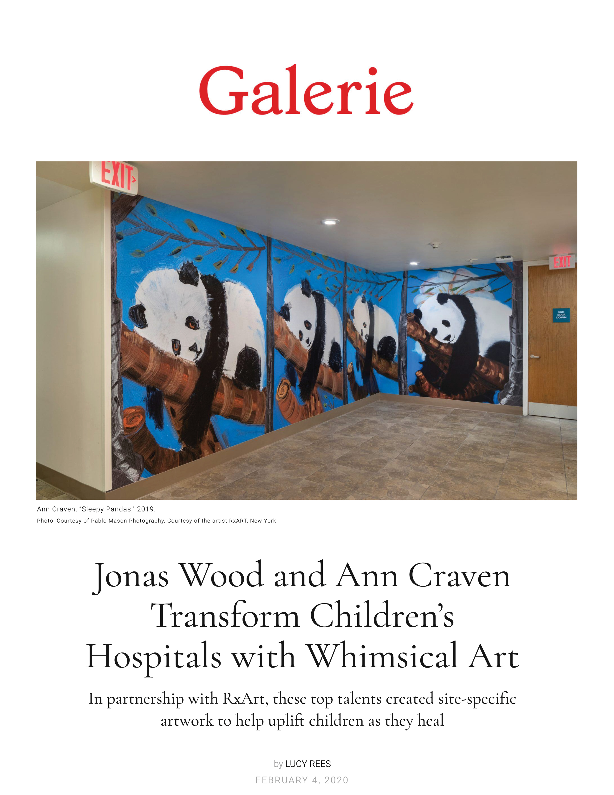 20200419_Galarie_Jonas Wood and Ann Craven Transform Children's Hospitals with Whimsical Art